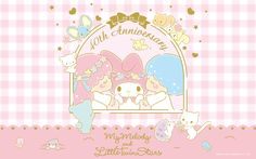 【Android iPhone PC】Little Twin Stars Wallpaper 201507 七月桌布 日本官方四十周年系列