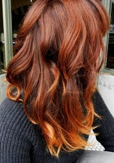 Red ombre back