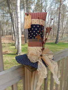 FoLk Art PrimiTive GruNgy Americana STAR Uncle Sam Hat July 4th Table DecoraTion #Americana #MelissaHarmon