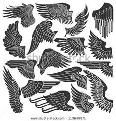 Set sketches of wings by konahinab, via ShutterStock
