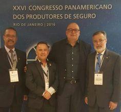 Carlos Ivo, vice-presidente do CVG-RJ;Wilson Pereira, diretor-financeiro do CVG-PR;Antonio Cássio dos Santos, CEO Américas da Generali Seguros eMarcello Hollanda, presidente do CVG-RJ