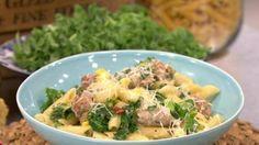 Sausage and kale pasta