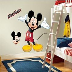 Mickey Mouse Wall Decal (Disney Vinyl Stickers, Kids Room Decor, Nursery Room Ideas)