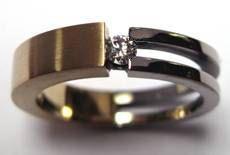 Prachtige ring: in de ring zit as verwerkt. Niemand die het ziet...