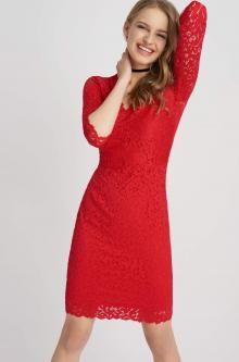 Čipkované šaty s V-éčkovým výstrihom  Kleider, Abendkleid, Langes