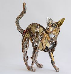 Recycled Scraps and Discarded Objects Are Fashioned Into an Eccentric Menagerie of Metal Animals | Colossal
