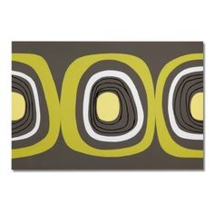 Hypnotic Energy. Excitement and whimsy abound in the radiant, abstract Green and Black Circle artwork. Black, gray, white and fluorescent green mingle to create a retro pattern consisting of concentric circles. This larger-than-life canvas print offers instant energy for your living space.