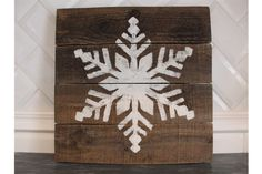 Snowflake Wood Sign, Reclaimed Wood, Christmas Sign, Holiday Decor, Christmas Decor by ClassicCoastalIndust on Etsy https://www.etsy.com/listing/490803005/snowflake-wood-sign-reclaimed-wood