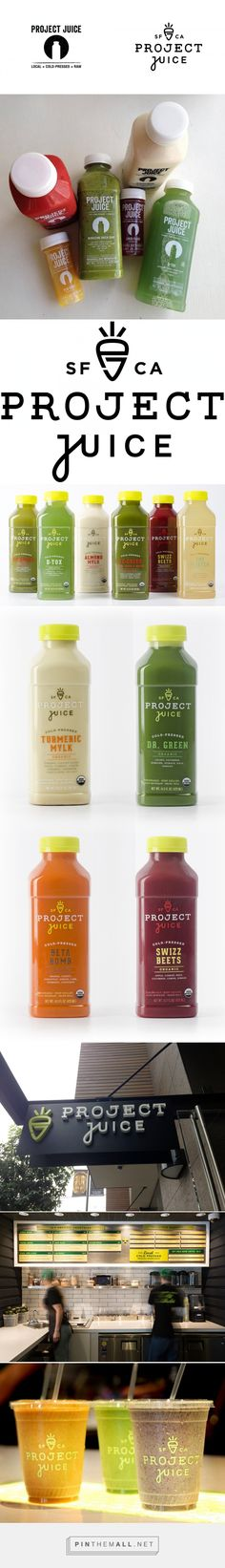 New Logo and Packaging for Project Juice by Chen Design Associates curated by Packaging Diva PD. Tasty looking shop and packaging. Juice Logo, Juice Branding, Juice Packaging, Beverage Packaging, Bottle Packaging, Brand Packaging, Medical Packaging, Logo Inspiration, Packaging Design Inspiration