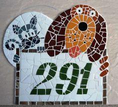 Número em mosaico feitos em base de cerâm ica <br>Fazemos números personalizados <br>Frete a contratar