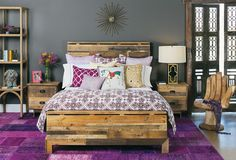 Magenta pillows bedroom contemporary interesting ideas with gray ...
