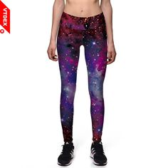 GYM Sports Leggings Galaxy Pattern VTDEX Yoga Pants Quick Dry Women Fitness Jogging Femme Silm Tights Leggings Mulheres 2018. Yesterday's price: US $8.20 (6.78 EUR). Today's price: US $8.20 (6.76 EUR). Discount: 59%.
