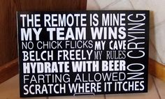 Man Cave Typography Sign by Vinylsignsandmore122 on Etsy