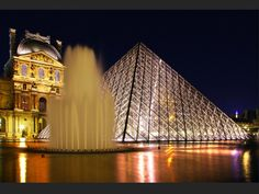 Le Louvre Museum, with the Pyramid in front.