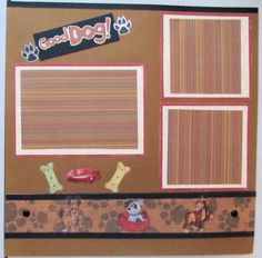 Good Dog  Premade Scrapbook Page Click this Pin to visit the best site for handmade scrapbook pages.  http://www.etsy.com/shop/SWAKScrappin, $5.99