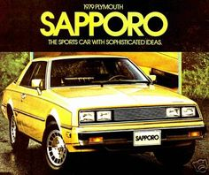 My first car...black w/ red bucket seat interior ...1978 Plymouth Sapporo.
