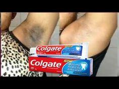Clareando axilas com pasta de dente ! - YouTube