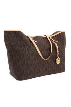 Michael Kors Jet Set Logo Medium Travel Tote | Traveling Of Life #fashion #women #bags #shoes #clothing