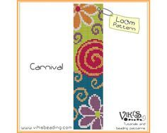 Loom Bracelet Pattern: Carnival - INSTANT DOWNLOAD pdf - Buy 2 Get 1 free with…