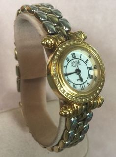 Anne Klein Crystal Two Tone Bracelet Link Swiss Movement Watch 12/6503 | Jewelry & Watches, Watches, Parts & Accessories, Wristwatches | eBay!