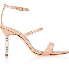 Sophia Webster Rosalind Crystal embellished metallic leather sandals