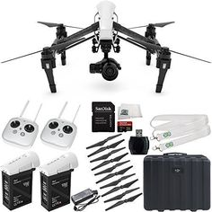DJI Inspire 1 Pro with Dual Remotes EVERYTHING YOU NEED Kit. Includes Manufacturer Accessories + Additional DJI Inspire 1 Transmitter + Additional DJI Inspire 1 TB47B Intelligent Flight Battery + MORE drone reviews