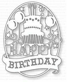 Papertrey Ink - Paper Clippings: Birthday Die