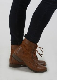 Combat Boots With Vintage Lace Details --- omg I LOVE these
