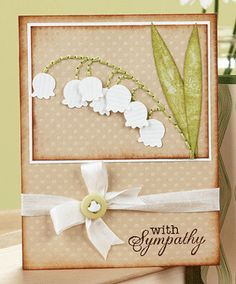 lilly of the valey card