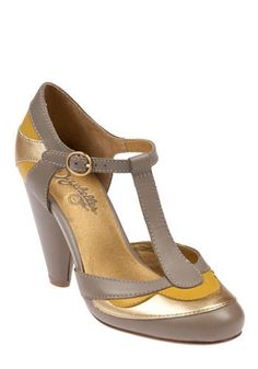Yellow And Gray Heels