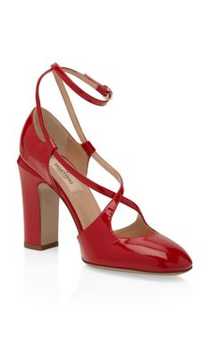 Valentino Red Patent Mambo Pumps
