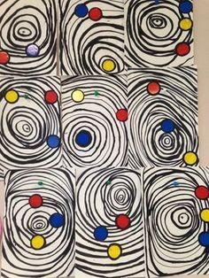 Alexander Calder Art lesson | primary colors | modern art for kids | art class | k-8