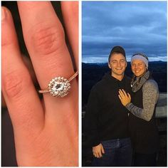 """""""Yes, to being your best friend for the rest of our lives"""" - #CoastDiamond #bridetobe @megannelson13. Megan said 'yes' to a #romantic #rosegold & #diamond engagement ring by Coast from @larogbrothersjewelers! Thank you for sharing & congrats to you on your #engagement! #showyourcoast #engagementring #shesaidyes #engaged #proposal"""