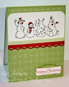 Snowy Moose Creations: Happy Snowmen