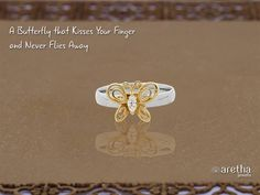 Butterfly #Brass #Ring in Shimmering #Gold Polish. A Must-Have this #NewYear.