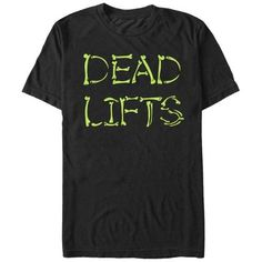 Chin UP Dead Lifts Mens Graphic T Shirt, Men's, Size: Small, Black