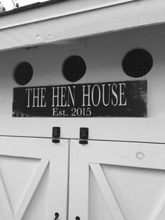 The Hen House Chicken Coop Sign Farm Sign by OneCoopedChick