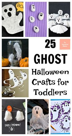 These ghost Halloween crafts for toddlers and preschoolers are simple and easy to make. If you are looking for Halloween craft ideas, look no further!
