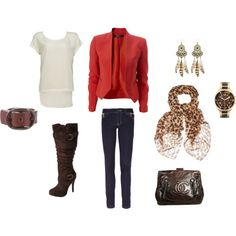 Red Blazer makes the outfit!