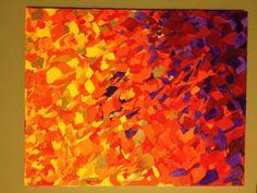 Autumn Breeze-textural acrylic painting by EmmaJLock