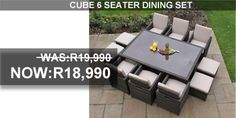 Outdoor furniture and patio furniture accessories at the highest quality that is comfortable as well as attractive. Outdoor Furniture Sets, Outdoor Decor, Dining Set, Cube, Creative, Home Decor, Dinning Set, Decoration Home, Room Decor