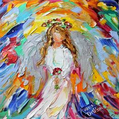 Karen Tarlton: Original oil paintings Angels from Above by Karen Tarlton