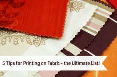 If you've never tried printing on fabric, you need to add this technique to your creative projects. It's perfect for personalized gift bags, party favors, fashion crafts, and more!