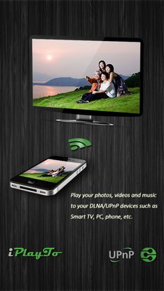 iPlayTo - Play photos videos and music to TV on App Store:   Play photos videos and music from your iPhone/iPad to DLNA devices such as your Smart TV AV Device Sound Box PC other phone and pad etc. Easy to use just pick your media and tap to play only one single step to play it on your TV! Anytime anywhere from any device - have fun wi...  Developer: e2eSoft  Download at http://ift.tt/1rdtDyD