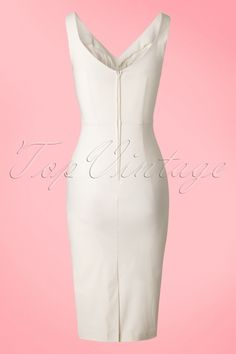Stop Staring! Ivory White Pencil Dress 100 50 18459 20160429 0012W 2