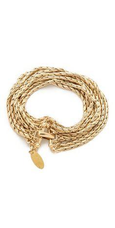 8 strand gold chain bracelet
