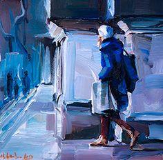 Im blauen Mantel 2 A moment in time, outside the Cathedral, part two.  Ein Augenblick draussen vor dem Dom, der zweite Teil.