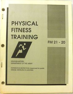 Military Book - Physical Fitness Training - August 1985 - Paperback - Used