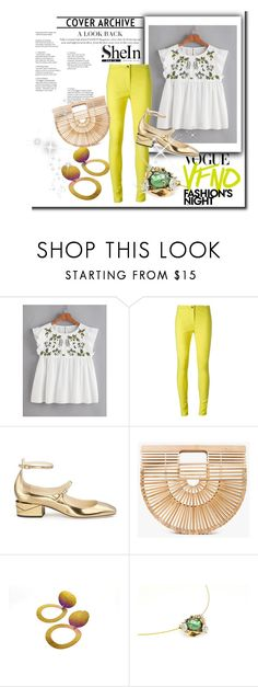 """""""Spring walk"""" by giampourasjewel ❤ liked on Polyvore featuring Fashion's Night Out, Ann Demeulemeester, Jimmy Choo, Cult Gaia, floral, Flowers, floralprint and shein"""