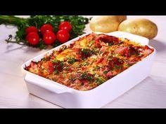 Chiftelute fragede cu cartofi la cuptor · Delicatese.net Bruschetta, Mozzarella, Vegetable Pizza, Quiche, Bacon, Breakfast, Ethnic Recipes, Food, Mai